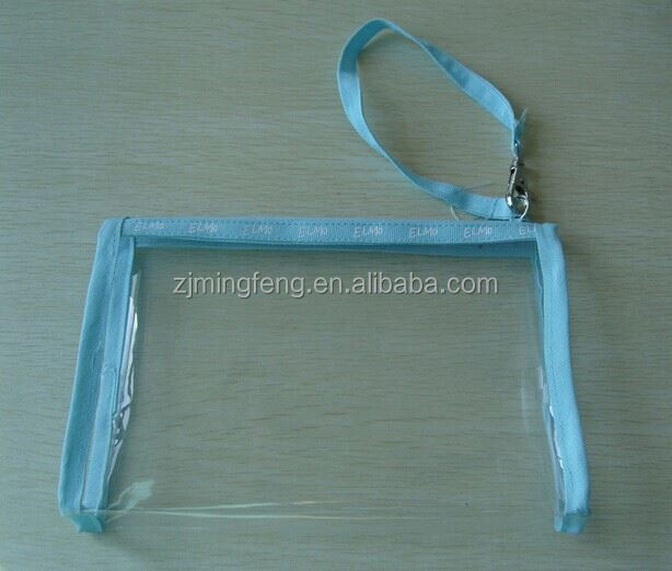 pvc bag/ heat seal pvc bag with zipper/ eva make up bag