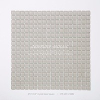 century 15x15mm matt glass tile beige square pattern glass mosaic