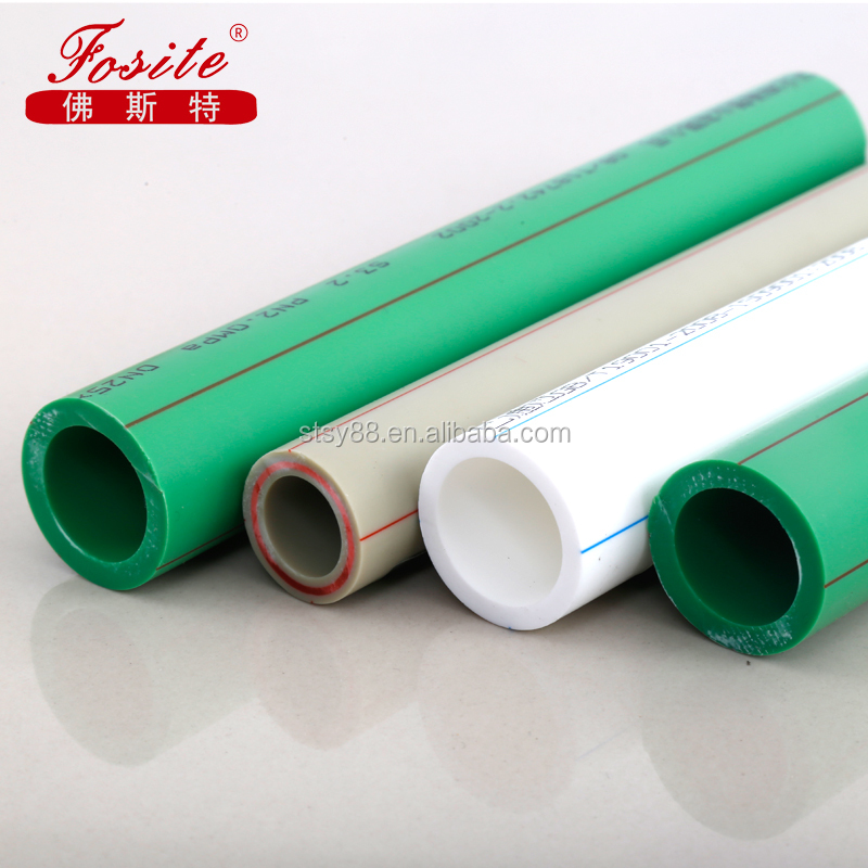 shentong Cold and Hot Water PPR Plastic Building Materials Green Plumbing Pipe