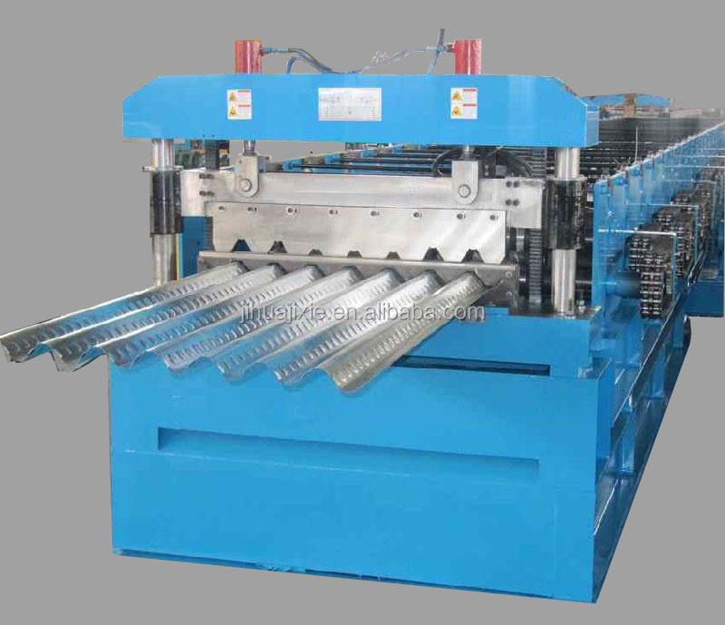 Steel Metal Decking Tile Sheet Roll Forming Making Machine Price , Steel Metal Floor Bearing Plate Roll Forming Machine