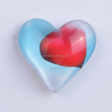 promotional 3D custom epoxy heart shape holiday gift fridge magnet souvenirs