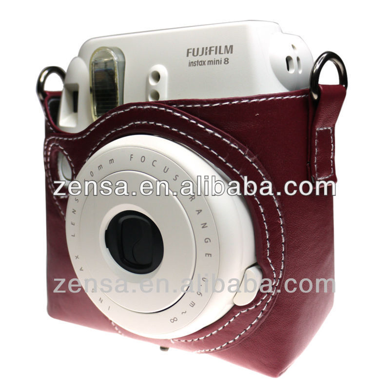 Fuji Polaroid Instant Mini 8 Instax Dark Brown Film Camera Bag Fujifilm