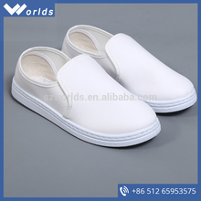 China two-way PU Sole ESD White Canvas Safety Shoes for sell