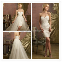 White Ladies 2016 Lace Up Designer Ivory Puffy Detachable Elegant Open Low Mariage Bridal MM-7736 Prom Ball Gown Wedding Dress