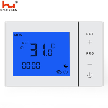 Weekly programmable smart room thermostat,Hysen boiler thermostat  with batteries