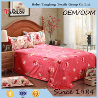 floral pretty coloful 100 cotton microfiber bed sheet set best sale single bed sheet sets Luxury direct factory made wholeasle