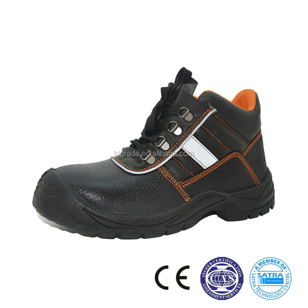 212037 China artificial leather supplier PU outer sole wholesale safety shoe
