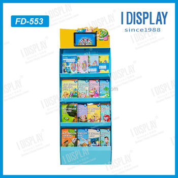floor stand lcd touch screen advertising pop cardboard display with lcd