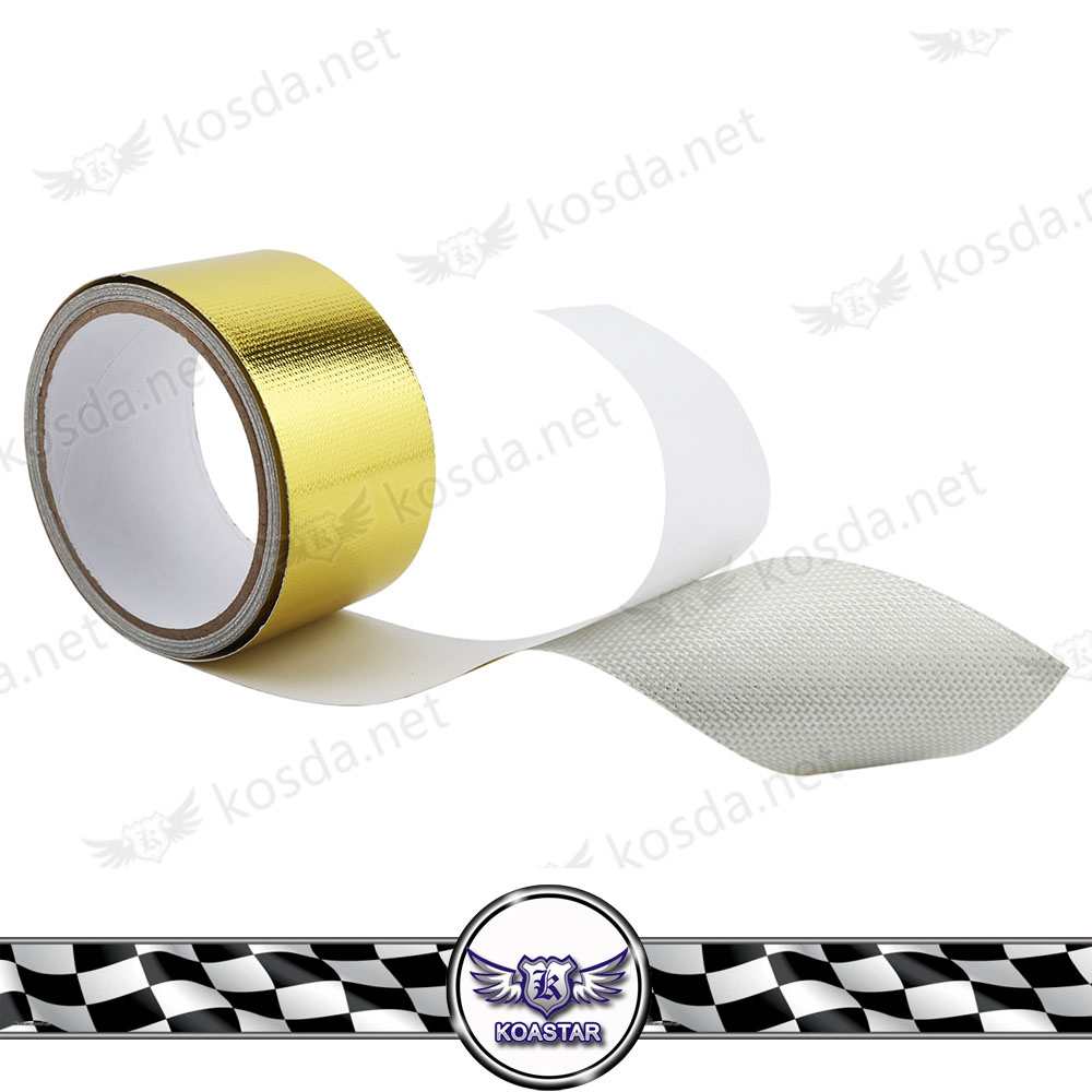 "2""x5m Car Aluminum Reinforced Tape Self Adhesive Backed Heat Shield Resistant Wrap For Turbo Intake pipe"
