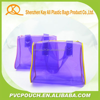 China supplier clear plastic handbags for young ladies with special shape