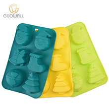 Christmas Shape Silicone Cake Pan Muffin Cake Mould For Bakeware 6pcs Cupcake Mould