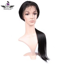 long black straight virgin human hair full ponytail silk lace cap for wig making 40inch lace wig hair