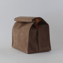 2016 Hot selling Waxed canvas lunch bag