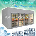 glass door freezer room for ice cream displaying
