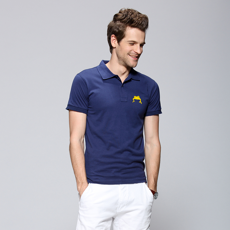 <strong>Navy</strong> Blue Cotton Spandex Polo Shirt Embroidery Stock Lot For Men