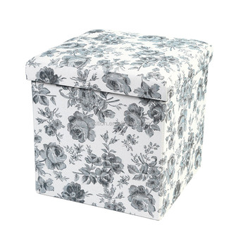 Europe Popular Home Foldable Storage Ottoman and Pouf