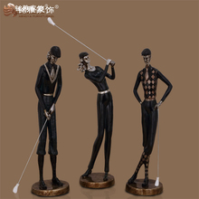 Wholesales sport souvenir art deco figures resin golf statues for home decoration