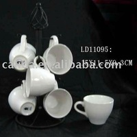 ceramic cup with iron holder