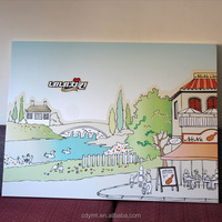 China supplier online shopping pre printed paintings art on canvas