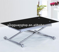 Lifting Table / Adjustable dining table/glass table