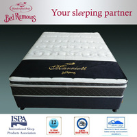 Comfirtable hot sell spring units memory foam mattress