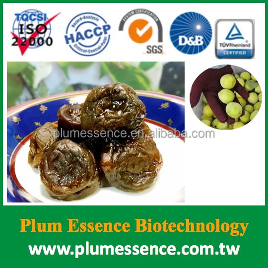 Tasty 100% natural Chinese preserved enzyme plums snack