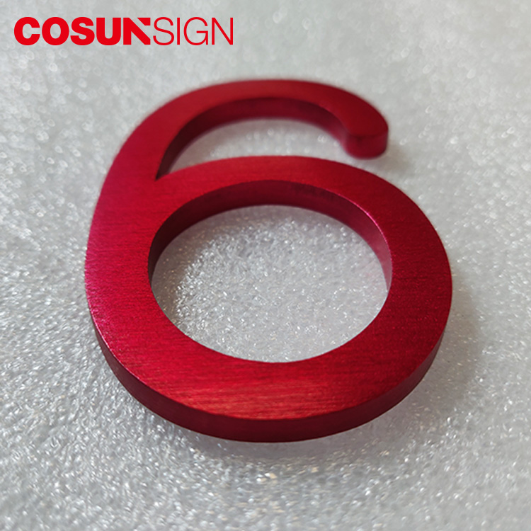 China supplier Cosun sign flat metal Letters