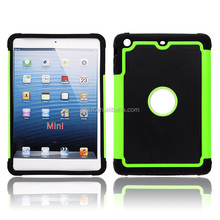 Best selling hard ballistic football lines Shockproof case cover triple defender 3 in 1 hybrid Armor Case for iPad Mini 1 2 3