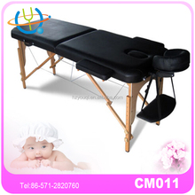 best selling two fold burgundy portable massage table