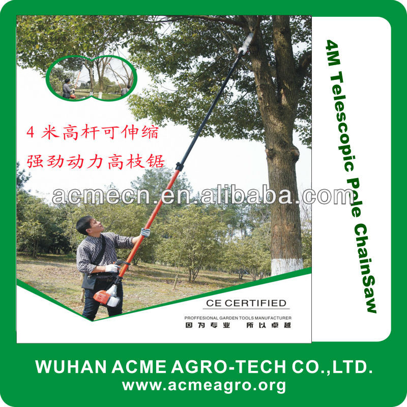4M Gasoline powered Telescopic Tree Pruning Pole Saw