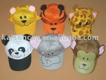 100% cotton animal shape lovely Children cap