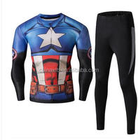 The Avengers Captain America, Iron Man Spider-Man Superman T-shirt sports suit unitard