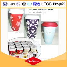 X'mas Ceramic Double wall mug with Silicon Lid