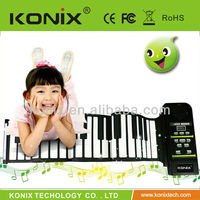 2013 for Christmas promotion most popular piano keyboard roll up piano with speaker
