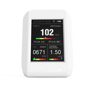 New Product Air Quality Monitor PM 2.5 CO2 Carbon Dioxide HCHO Formaldehyde Detector Air Particle Counter