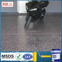 epoxy resin colorful flakes flooring coating