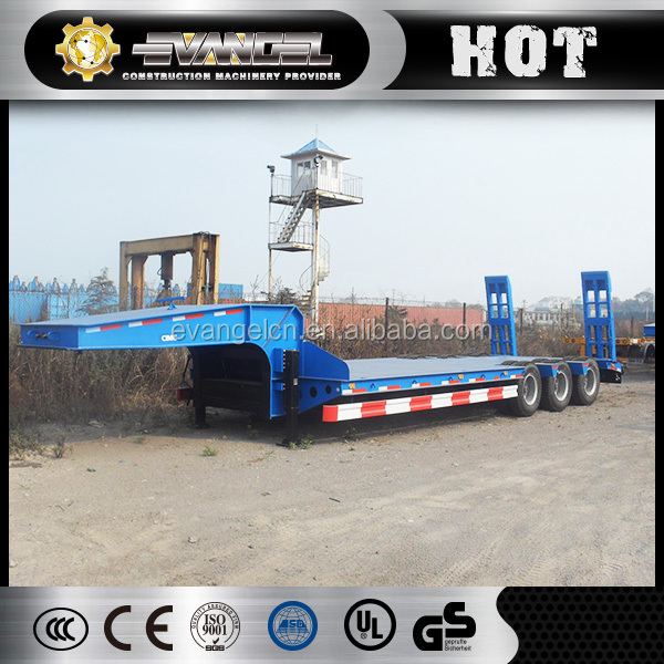 3 axles CIMC High quality low bed/ 50 ton low flat bed semi trailer sale