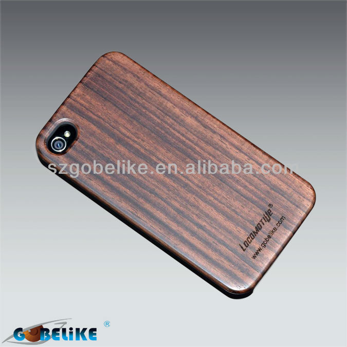 Wood Cell Phone Case For iPhone 4G/4S Incienso&Bois de rose Material