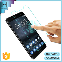 Hot sale 2017 new cell phone HD clear tempered glass mobile screen protector for Nokia 6