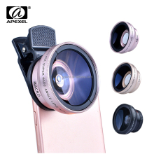 Apexel Optical Lens for Mobile Phone 0.45X Super Wide Angle Lens Camera Lens Cover for Mobile Phone iPhone Samsung