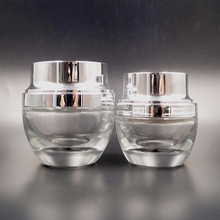 5g 10g 20g 30g frosted glass lip balm jars Frosted Glass Cosmetic container Face Cream Jars