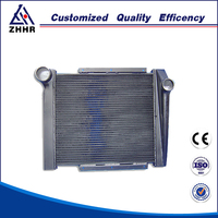 Brazed aluminum diesel engine heat exchanger