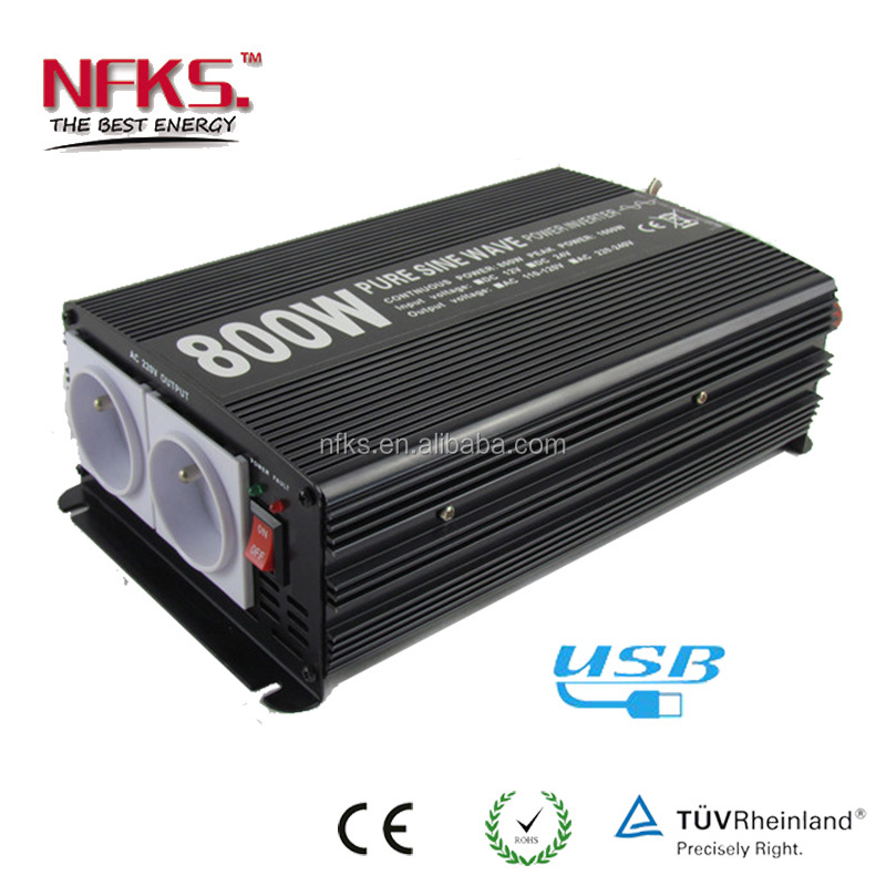 800W Pure Sine Wave Power Inverter 12V 220V Price of Inverter Batteries ac dc Inverter
