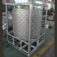 1000L Cylindrical IBC Tank with Heating System