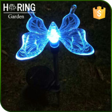 LED solar garden light butterfly with stick HR14022D