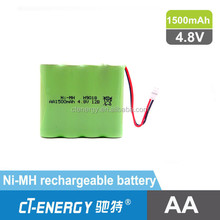 nimh battery for remote control car 4.8V 1500mAh nimh battery pack