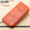 Famous brand custom zipper credit card ladies fashion leather travel wallet