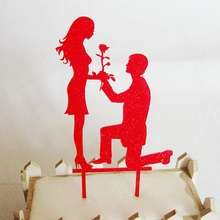New design acrylic wedding cake toppers for wedding party cake decoration