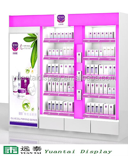 MDF wall stand cosmetic display unit