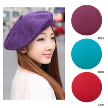 French Womens Wool Beret Cap